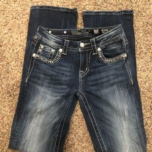 Miss Me mid rise bootcut jeans Size 25 inseam33